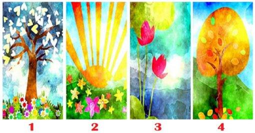 Kuris paveikslėlis jums sukelia laimę? Tai atskleis, koks žmogus esate