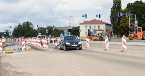 Teks apsišarvuoti kantrybe: Tilžės sankryžoje numatomi eismo apribojimai