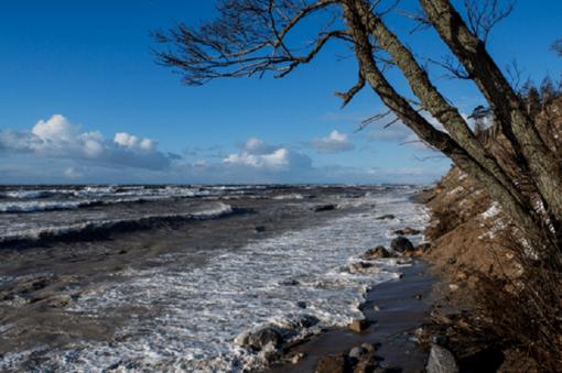 Skuodo gyventojai perspėjami dėl audros