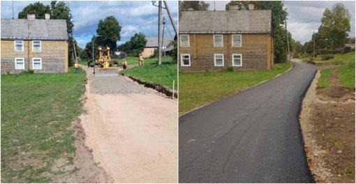 Zarasų rajone tęsiami gatvių remonto darbai
