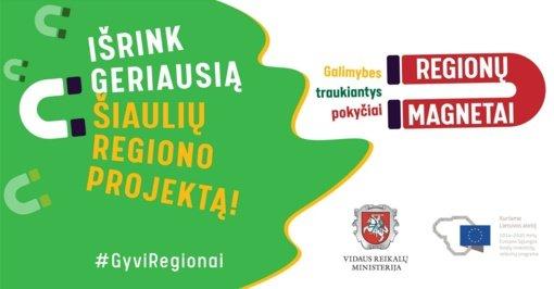 Išrink geriausią Šiaulių regiono projektą ir laimėk elektrinį paspirtuką