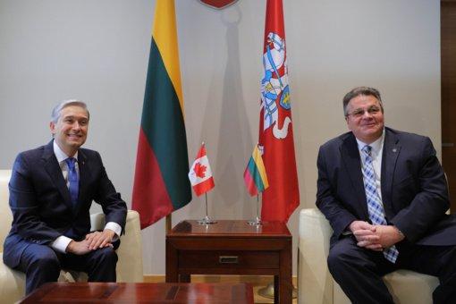 Vilniuje susitiko Baltijos valstybių ir Kanados užsienio reikalų ministrai
