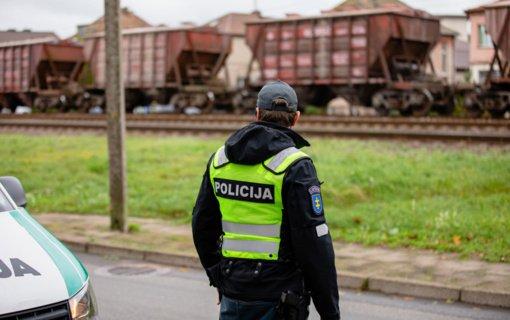 Priemonę prie geležinkelio surengę Klaipėdos pareigūnai užfiksavo kelis pažeidimus