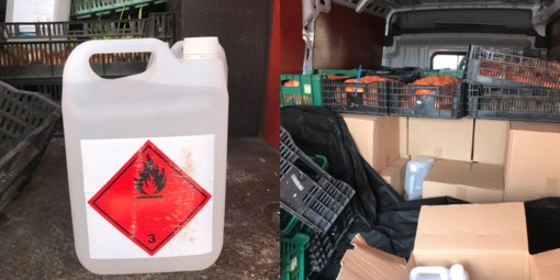 Kaune muitininkai sulaikė 2,5 tonos nelegalaus spirito iš Lenkijos