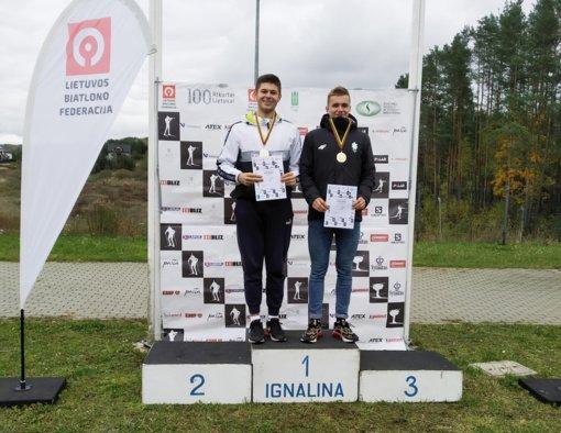 Anykščių biatlonininkai užtikrintai pasirodė Lietuvos čempionate