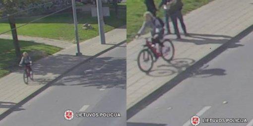 Pareigūnai prašo visuomenės pagalbos – atpažinti nuotraukose užfiksuotą dviratininką