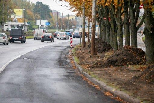 Atnaujinta jau 5 kilometrai Laisvės prospekto Vilniuje