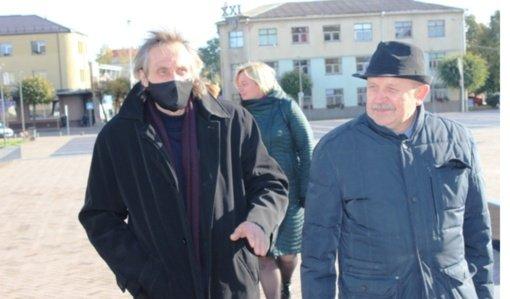 Kupiškio mieste lankėsi skulptorius Henrikas Orakauskas