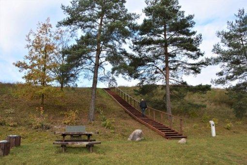 Ant Lygamiškio piliakalnio bus galima užkopti naujais laiptais
