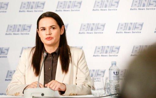 S. Cichanouskaja ragina iki 2020-ųjų pabaigos surengti naujus rinkimus Baltarusijoje