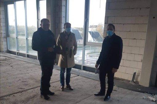 Įsibėgėjo Skuodo rajono viešosios bibliotekos naujojo pastato statybos darbai
