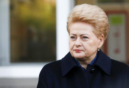 D. Grybauskaitė: valdžioje galėjo būti dvi oligarchų valdomos partijos