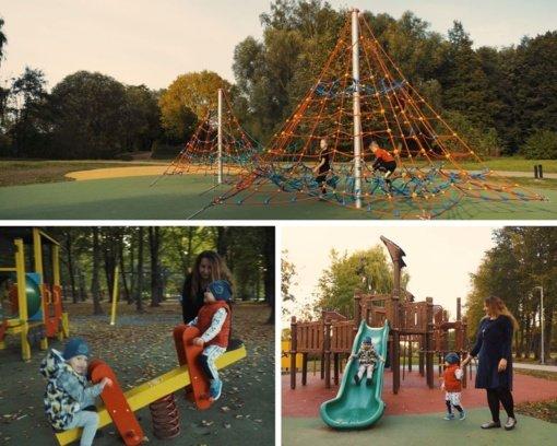 Pašešupio parkas tapo šeimų traukos centru