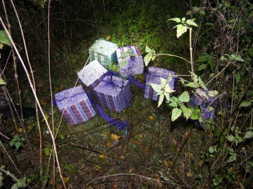 Šalčininkų rajone pareigūnai sutrukdė kontrabandininkams į Lietuvą atgabenti rūkalų