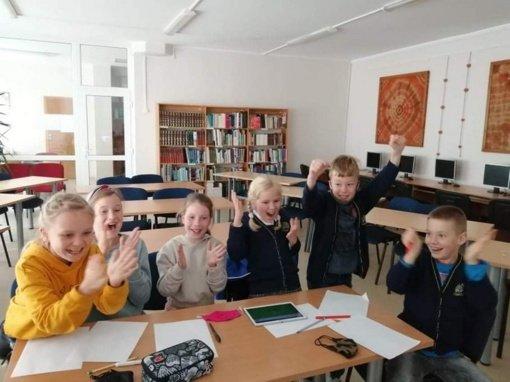 Marijampolės savivaldybės pradinių klasių mokinių protmūšis
