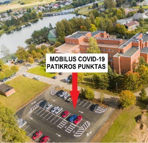 Mobilusis punktas COVID-19 tyrimams atlikti Širvintose – jau nuo trečiadienio