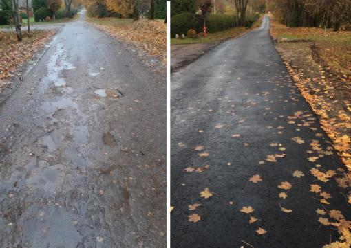 Pajūrio Jaunystės gatvei – naujas asfaltas