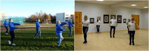 Skuodiškiai prisijungė prie pozityvaus pasaulinio šokio fenomeno