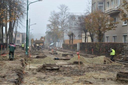 Gintaro gatvės rekonstrukcija: antradienį pradedami dangų ardymo ir žemės darbai