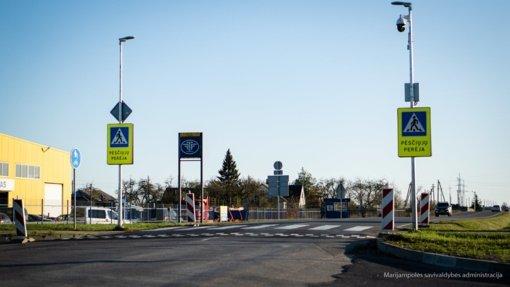 P. Armino gatvėje įrengta saugi ir patogi pėsčiųjų perėja