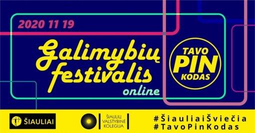 Galimybių festivalis TAVO PIN KODAS šiemet keliasi į virtualią erdvę