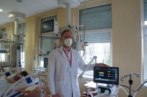 Sunkiausios būklės COVID-19 ligonių gydymui – nauja medicinos įranga