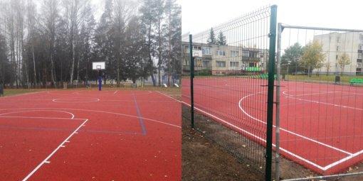 Kupiškio rajone įrengtos naujos krepšinio aikštelės