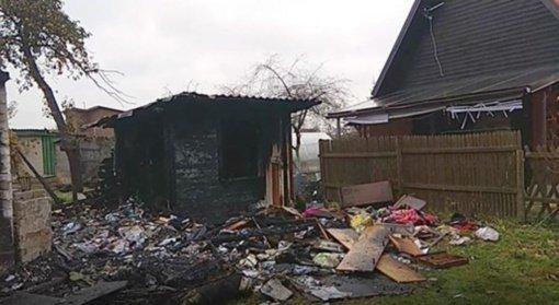 Soduose liepsnojo namelis: sudegė du šunys (vaizdo įrašas)