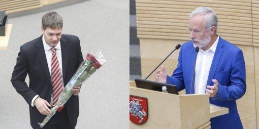 J. Razma ir A. Mazuronis tapo Seimo vicepirmininkais