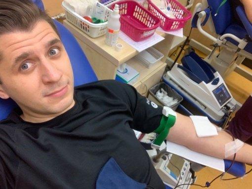 Panevėžietis tapo Garbės donoru: neatlygintinai kraujo aukojo 40-ąjį kartą