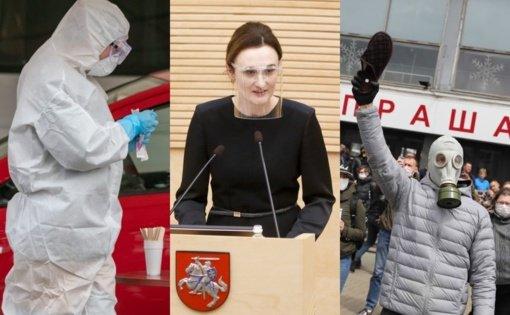 Svarbiausi savaitgalio įvykiai: Seimo vadovybė, koronavirusas, protestai Baltarusijoje