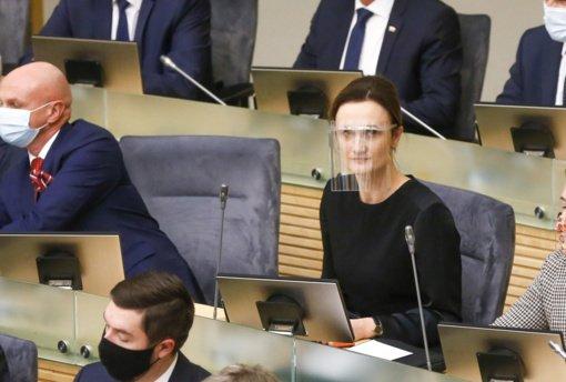 Viktorija Čmilytė-Nielsen sako, kad norėtų Seimo valdyboje matyti visų trijų opozicinių partijų atstovus