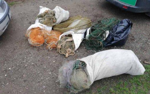 Klaipėdos ir Šilutės aplinkosaugininkai per reidą paėmė net 16 tinklų
