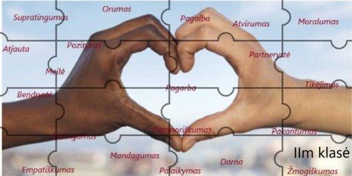 Simono Daukanto gimnazijos mokiniai kūrė Tolerancijos dėlionę