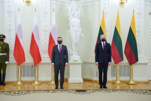 Lenkijos prezidentas A. Duda pradėjo vizitą Lietuvoje