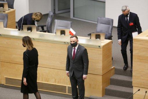 A. Duda: Lenkijos ir Lietuvos likimai yra susiję, todėl turime remti vieni kitus