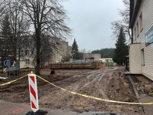 Pradėti Ligoninės gatvės dalies Ignalinoje darbai
