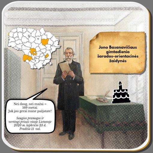 Jono Basanavičiaus gimimo dieną – orientacinis žaidimas visoje Lietuvoje