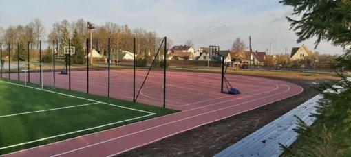 Atnaujintas Raseinių kūno kultūros ir sporto centro stadionas