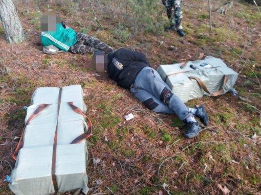 Druskininkų pasieniečiai sulaikė kontrabandą nešusius lazdijiečius