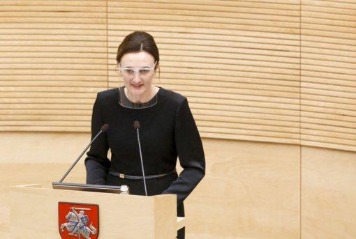 V. Čmilytė-Nielsen: naujų užsikrėtimų koronavirusu Liberalų frakcijoje nėra