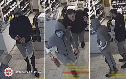 Policija ieško jaunuolių atvirai pavogusių alkoholinių gėrimų