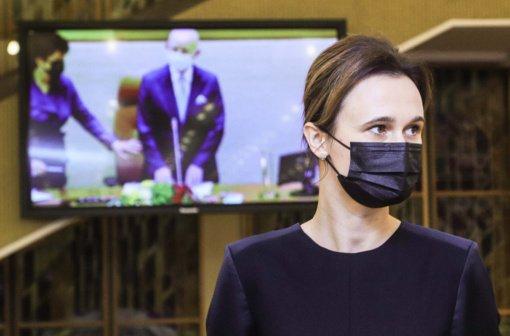 V. Čmilytė-Nielsen: prieš grįžtant posėdžiauti Seimo nariai bus raginami testuotis