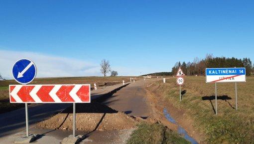 Upynos – Kaltinėnų kelias ruošiamas asfaltavimui