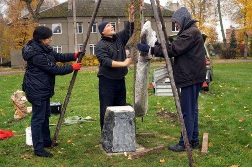 Dusetų skulptūrų parke – nauji kūriniai