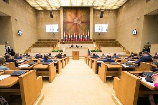 Nepritarta Seimo nuotolinio darbo reglamentavimui