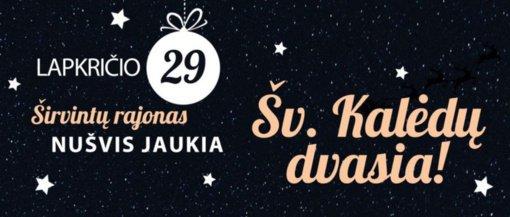 Šį sekmadienį Kalėdų šviesomis pasipuoš Širvintos ir Širvintų rajonas