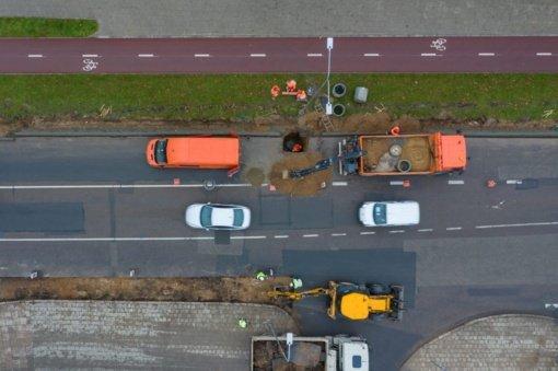 Rekonstruojama sostinės Didlaukio gatvė bus estetiškesnė ir patogesnė pėstiesiems