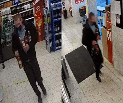 Kauno policija aiškinasi, kas iš parduotuvės nušvilpė alkoholio