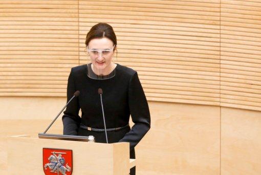 V. Čmilytė-Nielsen – apie dar vieną COVID-19 atvejį Seime: parlamento uždarymas situacijos neišsprendžia